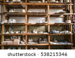 Wooden Racks In A Pottery...