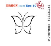 butterfly icon  vector... | Shutterstock .eps vector #538231168