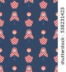 seamless pattern of matryoshka... | Shutterstock .eps vector #538231423
