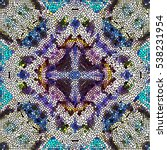 mosaic colorful pattern for... | Shutterstock . vector #538231954