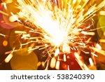 sparkler close up on color... | Shutterstock . vector #538240390