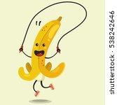 cute banana cartoon character... | Shutterstock .eps vector #538242646