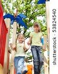 Children On Slide Outdoor In...