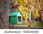 Wooden Bird House Of Green...