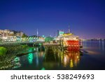 new orleans paddle steamer in... | Shutterstock . vector #538249693