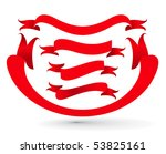 set of curled ribbons on white... | Shutterstock .eps vector #53825161