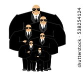 bodyguard family. black suit... | Shutterstock .eps vector #538254124