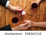 wedding proposal in restaurant | Shutterstock . vector #538262110