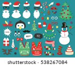 merry christmas and happy new... | Shutterstock .eps vector #538267084