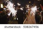 sparkler in hands on a wedding  ...   Shutterstock . vector #538267456
