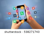 female fingers touching... | Shutterstock . vector #538271743