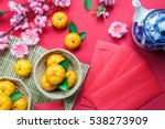 top view accessories chinese... | Shutterstock . vector #538273909