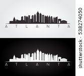atlanta usa skyline and... | Shutterstock .eps vector #538274050