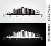Seattle Usa Skyline And...