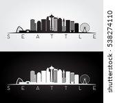 Seattle Usa Skyline And...