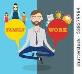 businessman meditating. man...   Shutterstock .eps vector #538279984