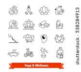 yoga workout   wellness program....   Shutterstock .eps vector #538284913