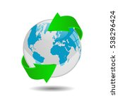 earth globe illustration on a... | Shutterstock .eps vector #538296424