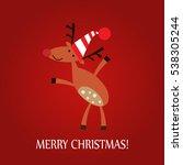 vector illustration of a deer... | Shutterstock .eps vector #538305244