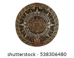 Isolated Ancient Aztec Calendar