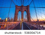 brooklyn bridge in new york... | Shutterstock . vector #538306714