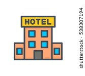 hotel icon hotel building | Shutterstock .eps vector #538307194