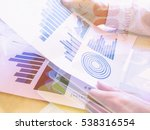 double exposure bank notes and... | Shutterstock . vector #538316554