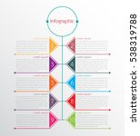 vector infographic templates... | Shutterstock .eps vector #538319788