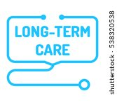 long term care. badge with... | Shutterstock .eps vector #538320538