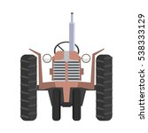 agricultural tractor icon.... | Shutterstock .eps vector #538333129