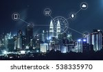 city scape and network... | Shutterstock . vector #538335970