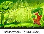 cartoon jungle background.... | Shutterstock .eps vector #538339654