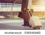 businessman and businesswoman... | Shutterstock . vector #538340680