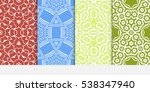 set of abstract decorative... | Shutterstock .eps vector #538347940