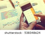 businessman doing finance and... | Shutterstock . vector #538348624