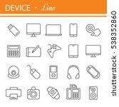 electronic devices thin line... | Shutterstock .eps vector #538352860