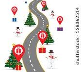 christmas infographics template ...   Shutterstock .eps vector #538362514