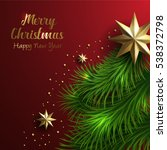 vector merry christmas and... | Shutterstock .eps vector #538372798
