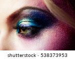female eye close up  creative... | Shutterstock . vector #538373953