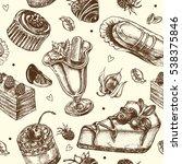 seamless decorative pattern... | Shutterstock .eps vector #538375846