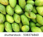 close up pile of mangoes from... | Shutterstock . vector #538376860