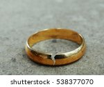 cracked gold wedding ring   ... | Shutterstock . vector #538377070