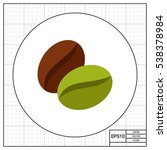 coffee bean icon | Shutterstock .eps vector #538378984