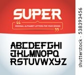 'super letters' isolated on... | Shutterstock .eps vector #538393456