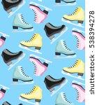 figure skates pattern on the... | Shutterstock .eps vector #538394278