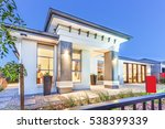 luxury house facade over the... | Shutterstock . vector #538399339