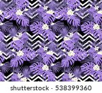 violet tropical leaves and... | Shutterstock .eps vector #538399360
