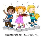 children playing musical... | Shutterstock .eps vector #53840071