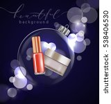 beauty and cosmetics background ... | Shutterstock .eps vector #538406530
