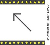 arrow top left sign line vector ...